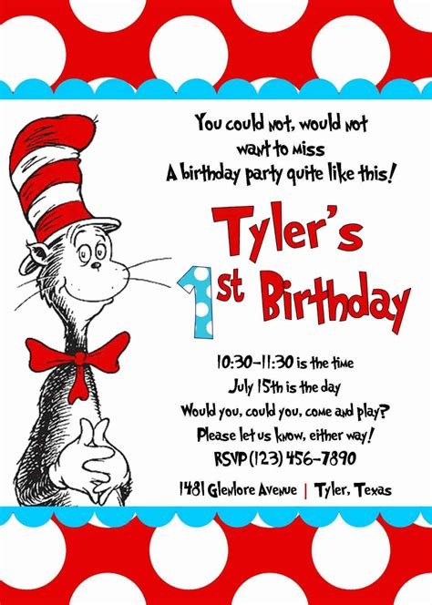 dr seuss birthday invitations birthday party invitations