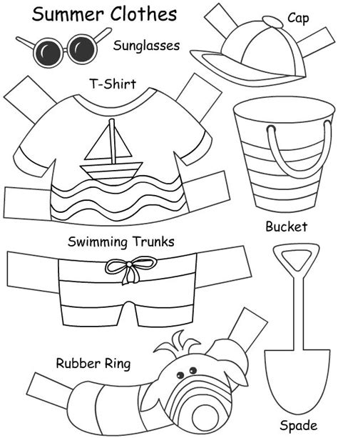 clothes for different seasons worksheet 9 best images about summer clothes on pinterest seasons