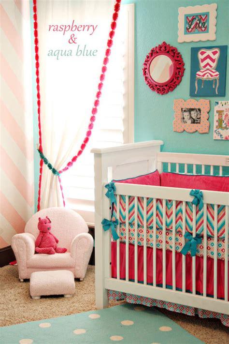 Teal And Raspberry Bedroom raspberry aqua nursery