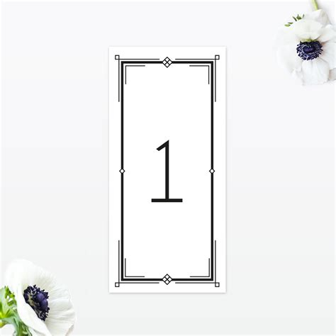deco table numbers deco table number invited luxury wedding