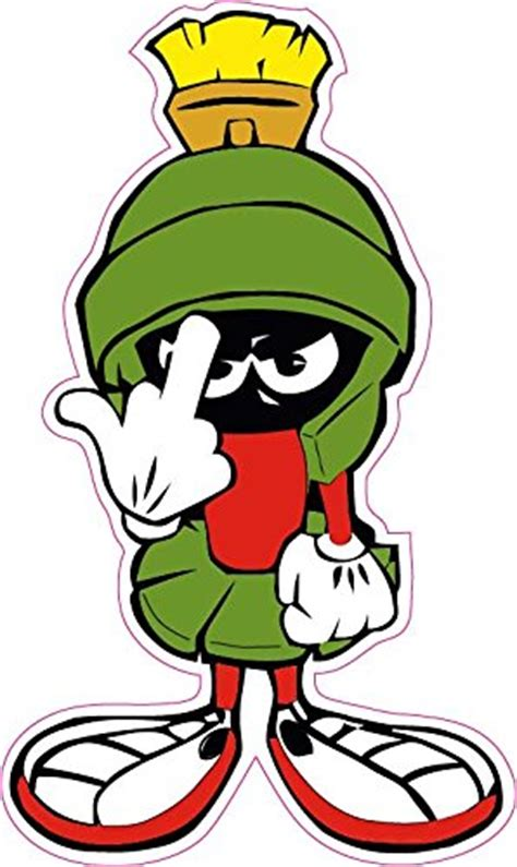 marvin the martian marvin the martian f you decal nostalgia decals