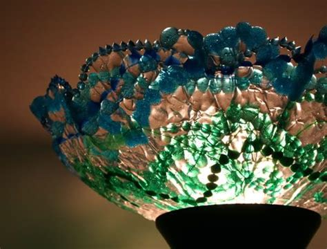 melted plastic bead projects seriously this l shade made from melted plastic