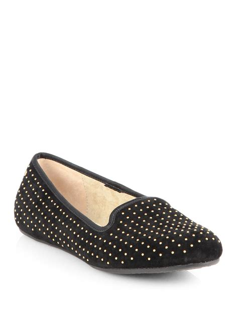 studded slippers ugg alloway studded suede slippers in black lyst
