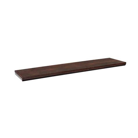 closetmaid bench cushion closetmaid impressions 48 in chocolate top shelf kit
