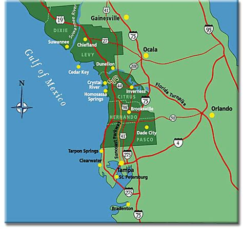 map of florida west coast florida gulf coast map map3