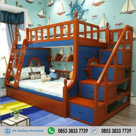 Tempat Tidur Tingkat Minimalis Murah tempat tidur tingkat minimalis model setir kapal box