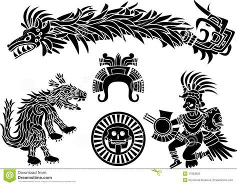 imagenes de brazaletes aztecas conjunto azteca de la plantilla ilustraci 243 n del vector