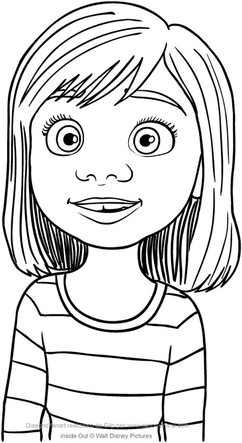 inside out coloring pages riley riley andersen inside out coloring page to print inside