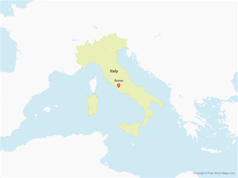 vector map italy vector map of italy free vector maps