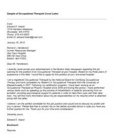 Therapy Aide Cover Letter by Sle Cover Letter Occupational Therapy Serversdb Org