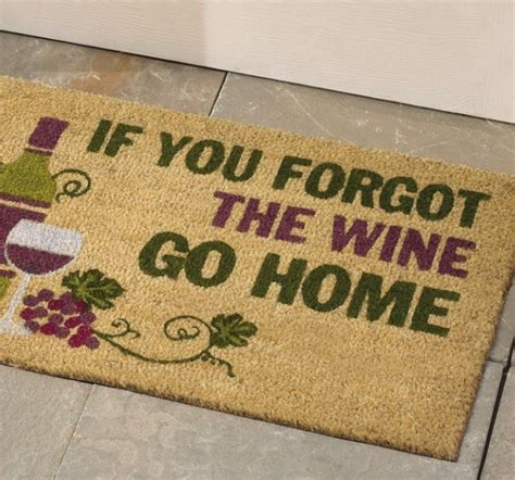 Mat About You by If You Forgot The Wine Go Home Door Mat Vs Wallet