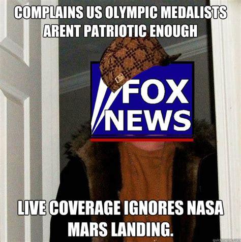 Fox News Meme - complains us olympic medalists arent patriotic enough live