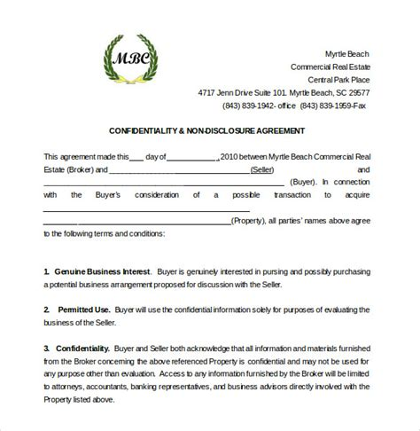 19 Word Non Disclosure Agreement Templates Free Download Free Premium Templates Non Disclosure Statement Template