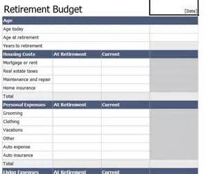 retirement budget worksheet retirement budget template