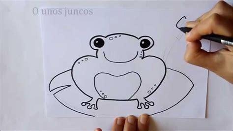 imagenes de sapos faciles para dibujar c 243 mo dibujar una rana dibuja conmigo dibujos de animales