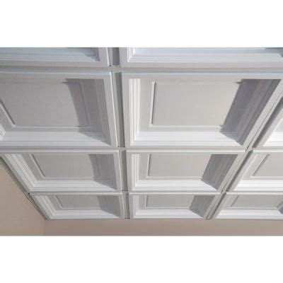 coffered drop ceiling tiles white 2 ft x 2 ft lay in coffered ceiling panel of 6
