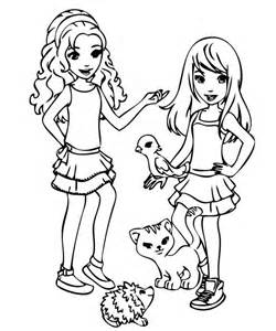 lego friends printable coloring pages coloring home