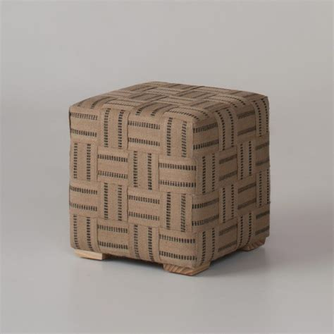 jute ottoman taped jute ottoman contemporary footstools and