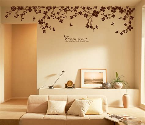 sticker murals for walls 90 quot x 22 quot large vine butterfly wall decals removable