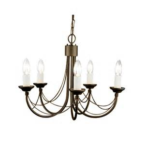 black and chandelier elstead lighting carisbrooke 5 light black and gold