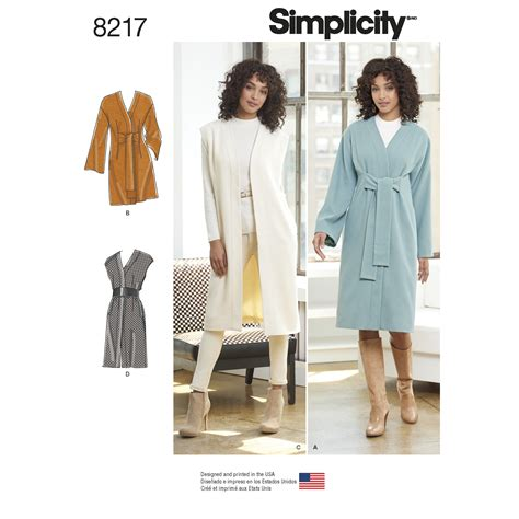 pattern review simplicity 2860 simplicity 8217 misses and miss petite lined coat or vest