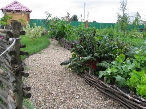 Vegetable Garden Ideas Decorative Designs Of The Garden Plot Ornamental Vegetable Garden Design