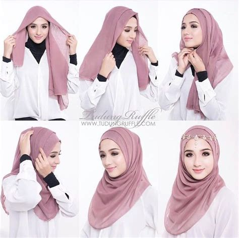 tutorial hijab pesta modern simple 25 kreasi tutorial hijab pesta simple terbaru 2018
