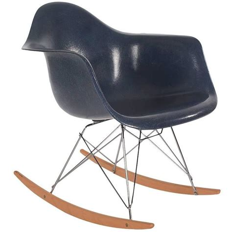 eames rocking chair fiberglass mid century eames for herman miller fiberglass rocking