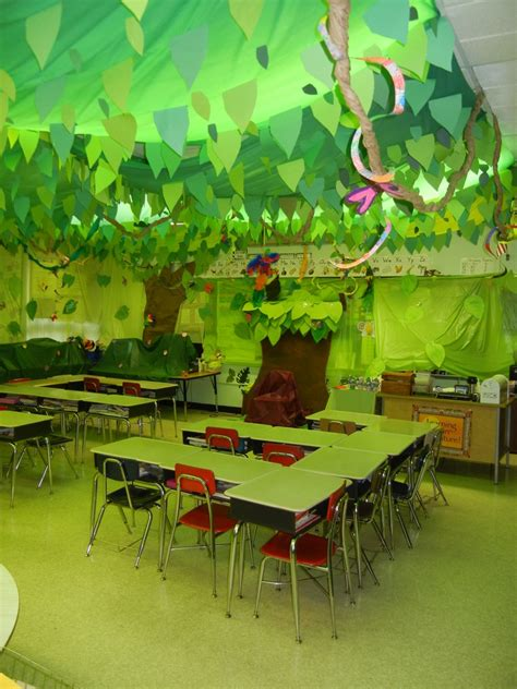 jungle theme classroom decorations cool classroom decoration ideas with ceiling jungle leaf