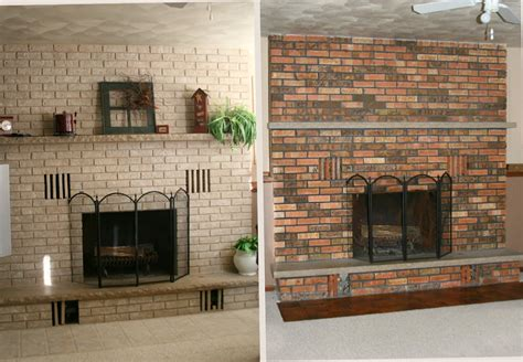 paint brick fireplace before after painting brick fireplace before and after fireplace