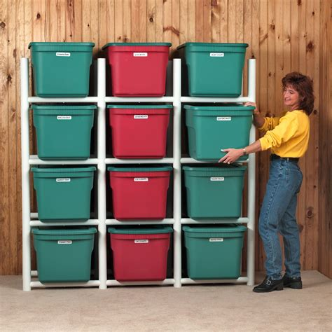 bin warehouse 12 tote storage system 69 quot h 4 shelf shelving unit reviews wayfair