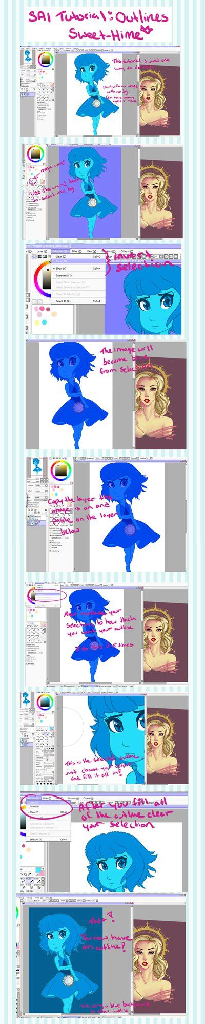 paint tool sai outline tutorial paint tool sai tutorial outlines by sweet hime on deviantart