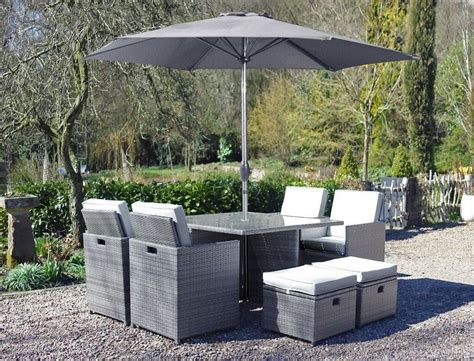 rattan cube garden furniture grey  brown table chairs