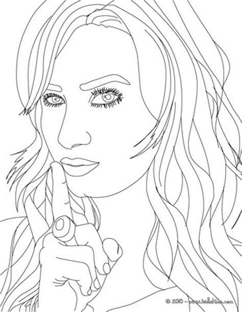 demetria lovato posing coloring pages hellokids com
