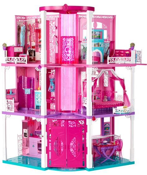 Barbie House Dream Doll Mattel 3 Story Vintage Furniture Dreamhouse Pink Fab New Ebay