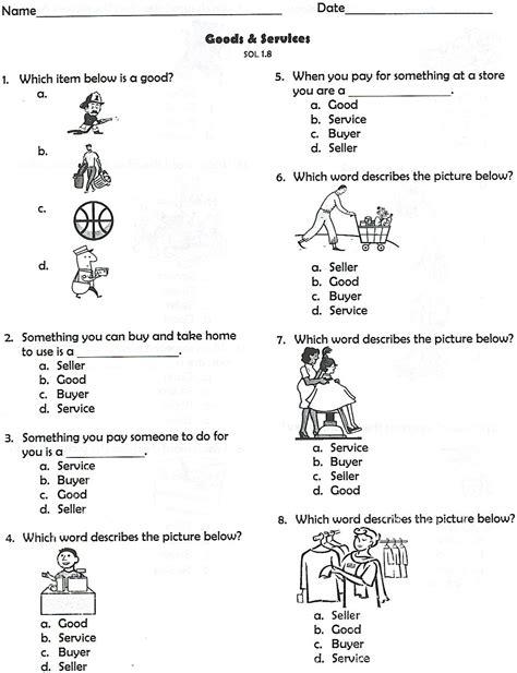 Free Printable Social Studies Worksheets For Kindergarten by Goods And Services Homeschool Social Studies