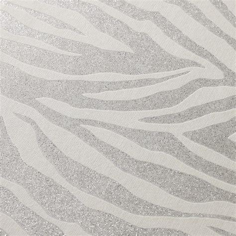 glitter wallpaper john lewis zebra silver glitter wallpaper by graham and brown p