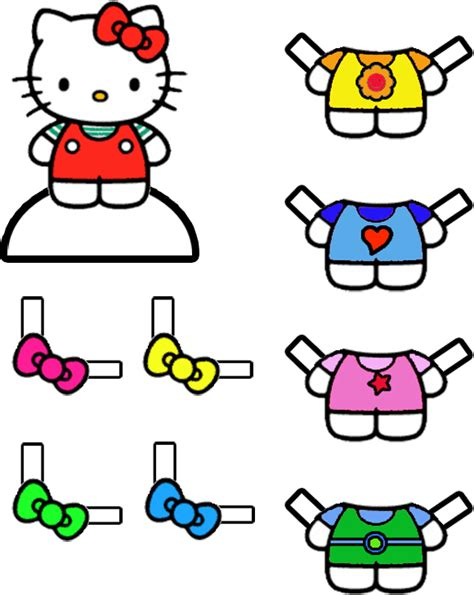 printable dress up games cute coloring pictures hello kitty paper doll with