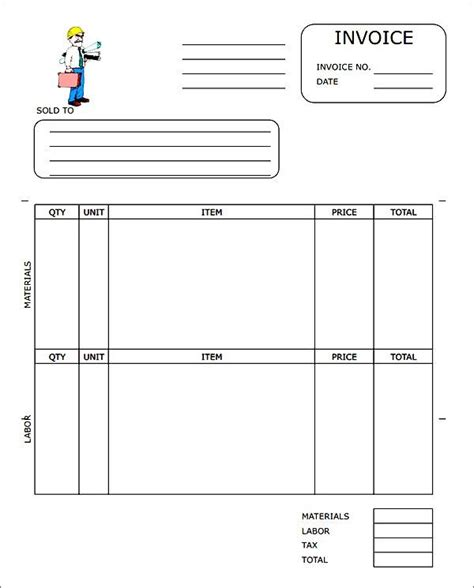 Contractor Invoice Template Pdf by Contractor Invoice Template Pdf Besttemplates123