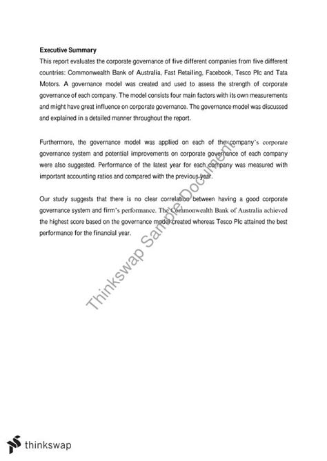 Corporate Governance Mba Assignment by International Corporate Governance Major Assignment 30