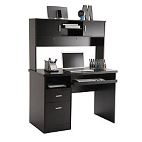 Illustra Desk With Hutch Illustra Transitional Engineered Wood Computer Desk With Hutch 56 12 H X 43 12 W X 21 12 D