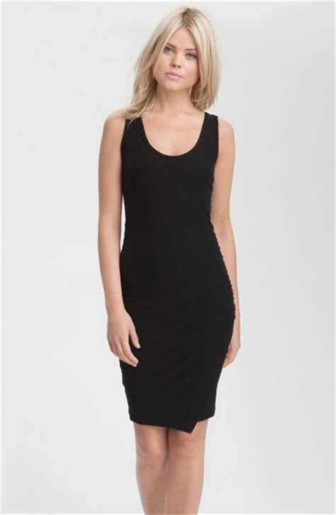 Tank Dress With Rouching by Ruched Faux Wrap Tank Dress In Black Lyst