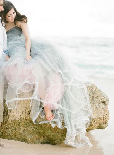 swoon worthy beach wedding dresses  deer pearl