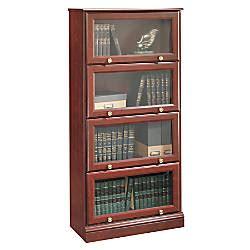 sauder barrister bookcase 4 glass door sauder roanoke barrister bookcase 60 18 h x 28 34 w x 13 d