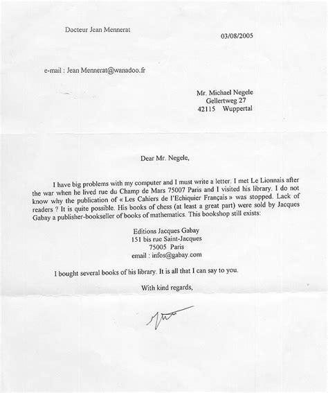 Offizieller Brief Ort Datum Jean Mennerat