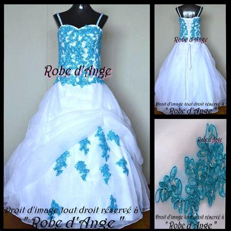 Robe De Mariée Bleu Turquoise Et Ivoire - robe de mariage bleu turquoise