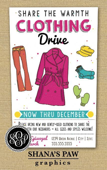 39 Best Blanket Clothing Drive Resources Images On Pinterest Blankets Blanket And Felt Apparel Flyer Templates