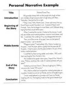 Narrative Essay Topics For Middle School Students by Personal Narrative Essay Sle 5th Grade Writing Ideas Graphic Organizers