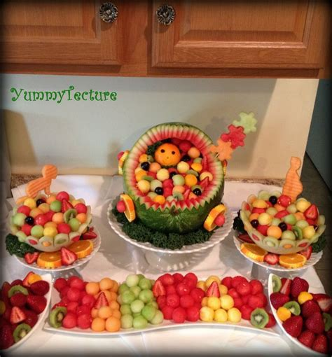 Baby Shower Tray Decoration by Best 25 Fruit Display Tables Ideas On