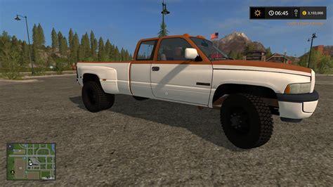 dodge ram work dodge ram work truck mod for farming simulator 2017